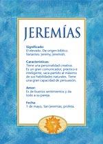 Nombre Jeremías