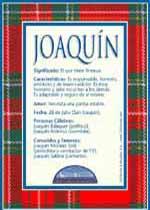Nombre Joaquín