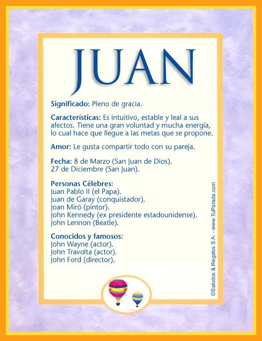 Juan, imagen de Juan