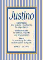 Nombre Justino