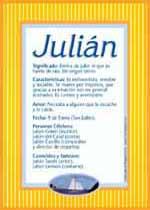 Nombre Julián