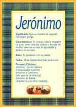 Nombre Jerónimo