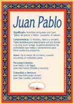 Nombre Juan Pablo