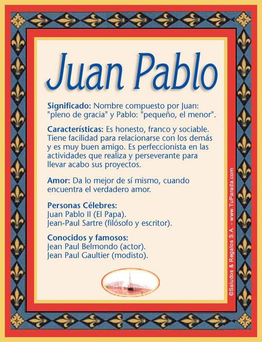 Juan Pablo, imagen de Juan Pablo