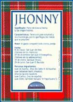 Nombre Jhonny