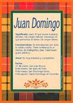 Nombre Juan Domingo