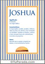 Nombre Joshua