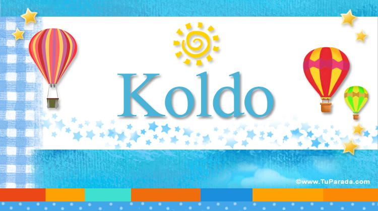 Koldo, imagen de Koldo