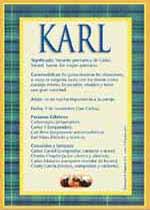 Nombre Karl