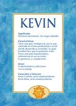 Origen y significado de Kevin