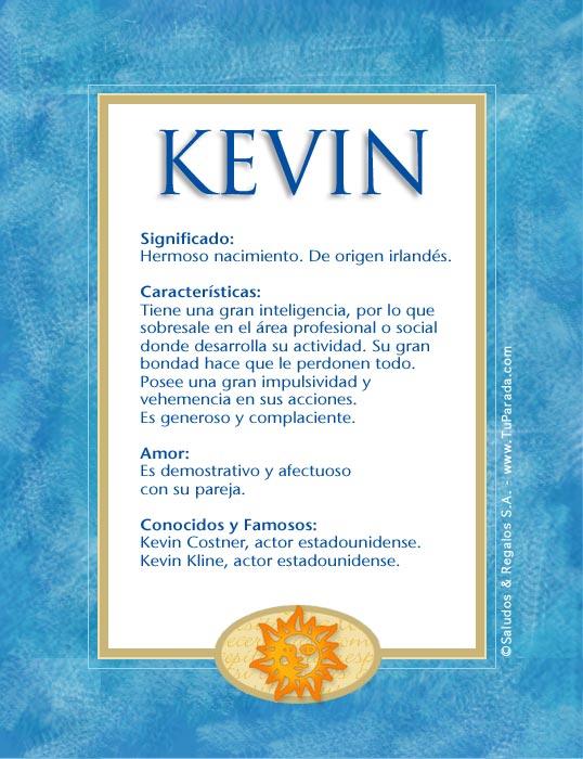 Kevin, significado del nombre Kevin, nombres