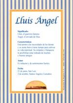 Origen y significado de Lluis Ángel