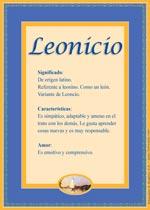 Nombre Leonicio