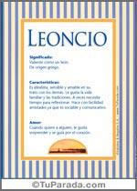 Nombre Leoncio
