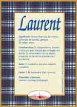 Nombre Laurent