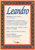 Origen y significado de Leandro