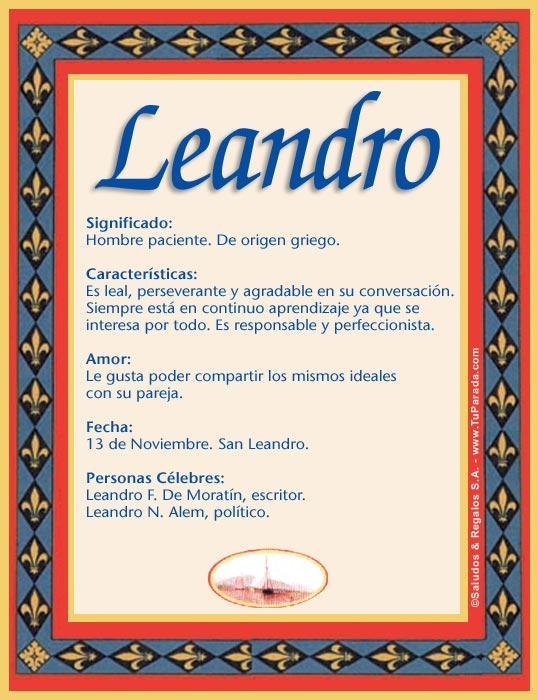 Leandro, imagen de Leandro