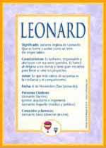 Nombre Leonard