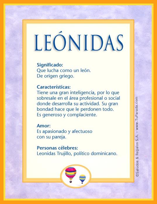 Leónidas, imagen de Leónidas