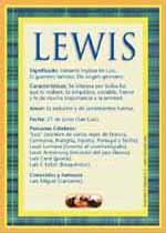 Nombre Lewis