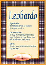 Nombre Leobardo