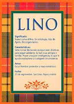 Origen y significado de Lino