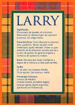Nombre Larry