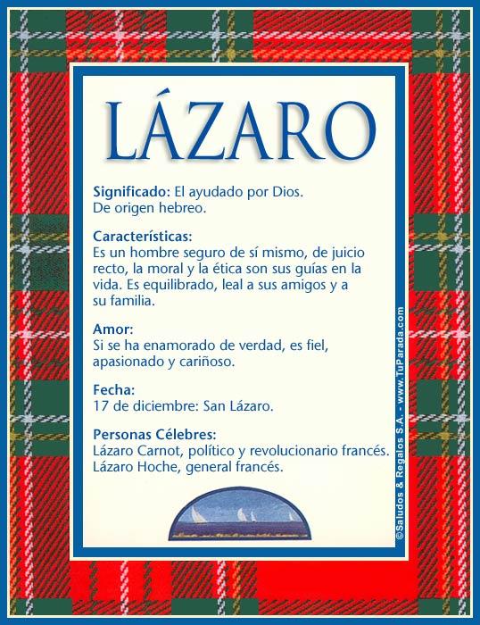 Lázaro, imagen de Lázaro