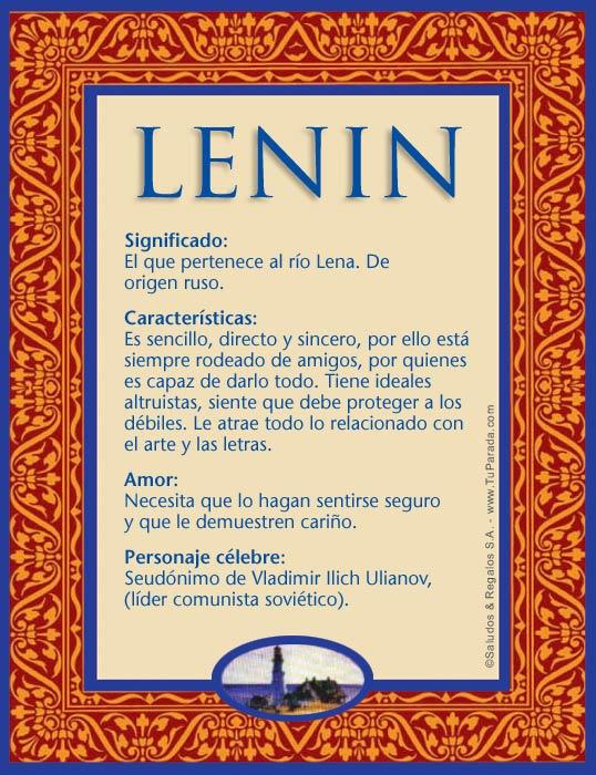 Lenin, imagen de Lenin