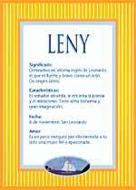 Nombre Leny