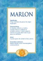 Nombre Marlon