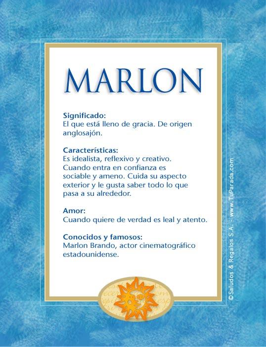 Marlon, imagen de Marlon