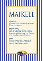 Nombre Maikell