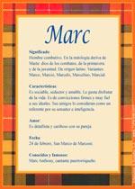 Origen y significado de Marc