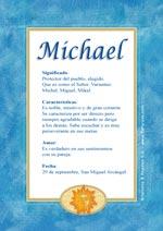 Nombre Michael