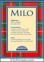 Origen y significado de Milo