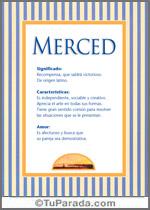 Nombre Merced