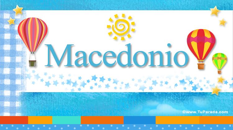 Macedonio, imagen de Macedonio
