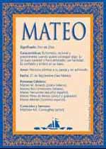 Nombre Mateo