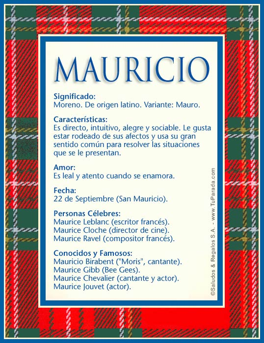 Mauricio, imagen de Mauricio