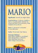 Origen y significado de Mario