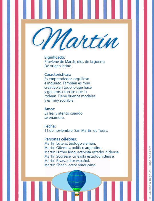 Martín, imagen de Martín