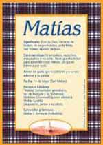 Origen y significado de Matías