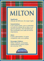 Origen y significado de Milton