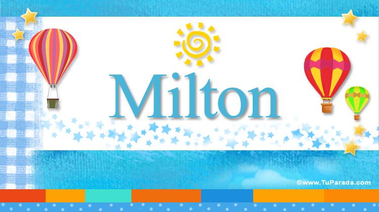 Milton, imagen de Milton