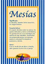 Nombre Mesías