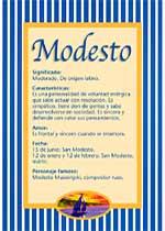 Origen y significado de Modesto