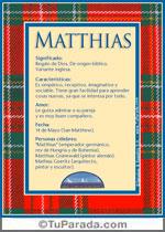 Nombre Matthias
