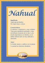 Nombre Nahual