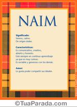 Origen y significado de Naim